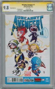 Uncanny Avengers #1 Baby Variant CGC 9.8 Signature Series Signed Skottie Young Marvel comic book